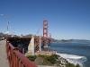Början på gång/cykelbana över Golden Gate