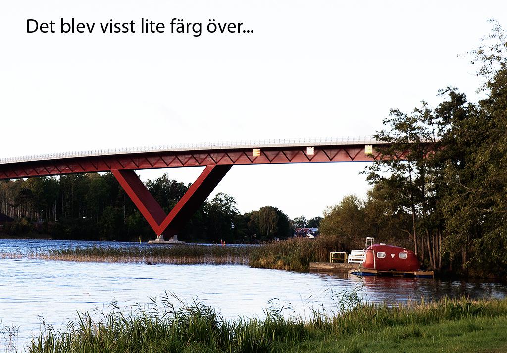 Motalabron med förgrund, nästan färdigmålad.